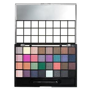 e.l.f. 32 Piece Eyeshadow Palette, Cool, 0.9 Ounce