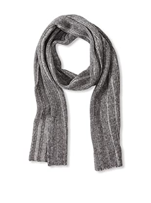 Sofia Cashmere Men's Ribbed Scarf (Charcoal)