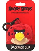 Angry Birds Plush Backpack Clip - Red Dotted Bird