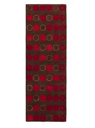 Chandra Daisa Rug, Brown/Red, 2' 6