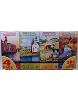 Art Of Mary Ann Vessey Simple Times 4 Pack 500 Piece Jigsaw Puzzle Asst #2 By Master Pieces
