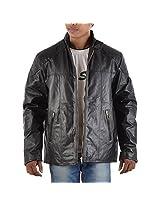 Yas Fashions Men's Regular Fit Leather Winter Jacket ( Y12-XXXXX Large_Black_XXXXX-Large )