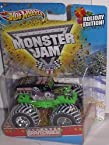 2011 HOT WHEELS CHRISTMAS HOLIDAY EDITION 1:64 SCALE GRAVE DIGGER MONSTER JAM TRUCK WITH SNOW ON THE...