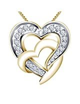 Vorra Fashion 14K Gold Plated 925 Sterling Silver Pendant For Women (Yellow)