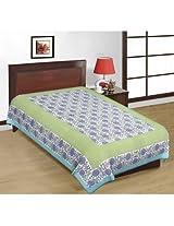 Shop Rajasthan Floral Print Multicolor Cotton Single Bed Sheet-SRB2196