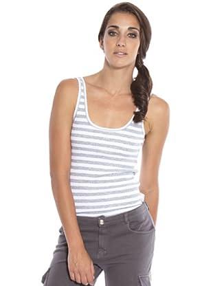 PEDRO DEL HIERRO Camiseta Tirantes (Gris / Blanco)