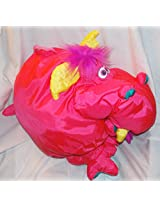 "1995 Fisher Price Monster Big Things 23"" Pink Dragon Stuffed Animal"