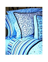 Caden Lane Luxe Collection Bedding Full Duvet, Blue