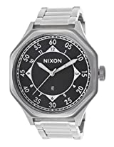 Nixon Men's A195-000 Falcon Silver/Black Stainless Steel Watch