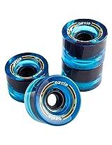 Oxelo 4 X 70Mm 78A Wheels Blue 70 MM - Skateboard Wheels