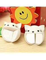 2Pcs Baby Kid Desk Corner Edge Protection Cover Cute Silicone Safety Protector (Cat)