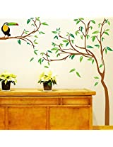 Wallcano Decals Design Tree With Kingfisher 6903 Wall Sticker