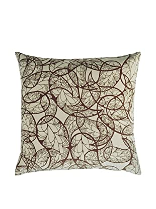 Kevin O'Brien Studio Hand-Printed Cotton Velvet Paisley Pillow