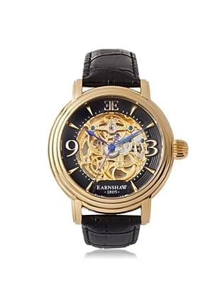 Earnshaw Men's 8011-03 Longcase Black Stainless Steel Watch