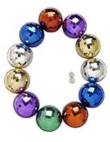Forum Mardi Gras Parade 48-inch Bead Necklace Super Jumbo Disco Balls