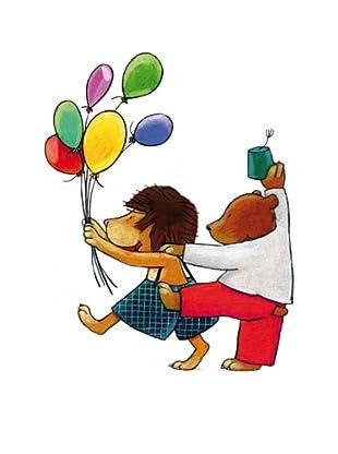 Beiwanda Kids Wandtattoo Zirkuspärchen mit Ballons