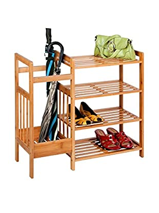Honey-Can-Do 4-Tier Bamboo Entryway Organizer