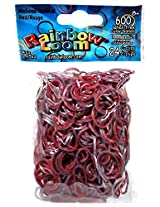 Rainbow Loom Medieval Red Rubber Bands with 24 C-Clips (600 Count)
