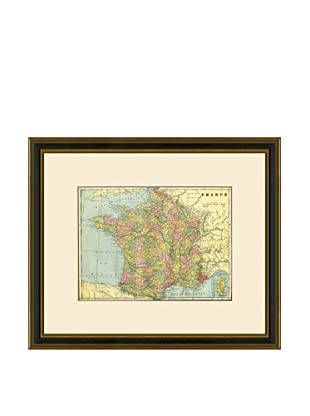 Antique Lithographic Map of France, 1883-1903