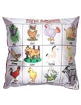 Twisha Farm Animals Pillow 12 X 12 X 4 Inch