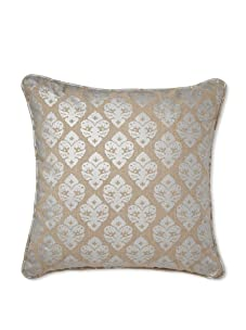 Mystic Valley Traders Silver Medallion Pillow (Natural/Silver)