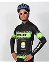 Triumph Firefox Pro Men's Polyester Cycling Jersey Charcoal (XXXL)