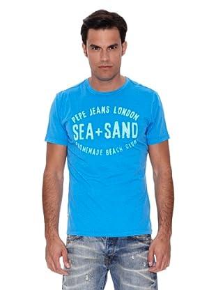 Pepe Jeans London Camiseta Palm (Azul Claro)