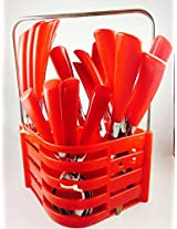 Zdelhi New Cutlery Set ASH_RED
