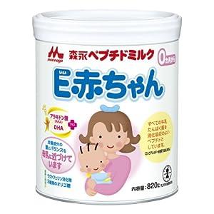 【クリックでお店のこの商品のページへ】森永 ペプチドミルク E赤ちゃん 大缶820g