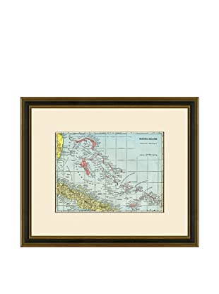 Antique Lithographic Map of Bahama Islands, 1883-1903