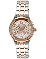 Casio Sheen Multi Function Analog White Dial Women's Watch - SHE-3803SG-7AUDR (SX106)