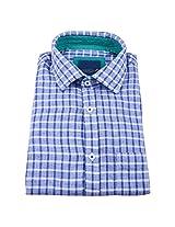 Linen Club Formal Shirt Blue