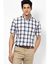 Blue Check Slim Fit Casual Shirt French Connection