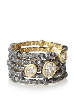Belargo Wide Hammered Ring