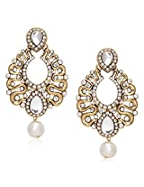 Meenaz Traditional Earrings Fancy Party Wear Kundan Moti Pearl Daimond Earrings For Women - TR115