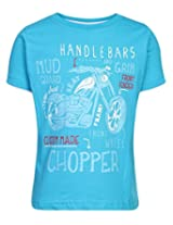 Ollypop T-Shirt Half Sleeves Chopper Print - Blue