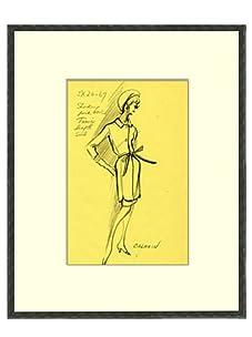 Vintage Women's Balmain Fashion Sketch c.1968