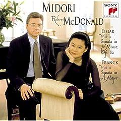 CD 五嶋みどり(Vn)&M.マクドナルド(P) エルガー&フランク:ヴァイオリン・ソナタの商品写真