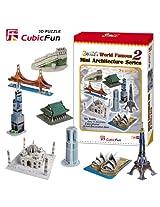 CubicFun Mini Architecture Series 2 World Famous 3D Puzzles [Toy]