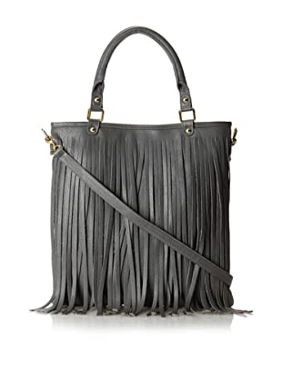 B-low the Belt Women's Twiggy Fringe Tote, Grey