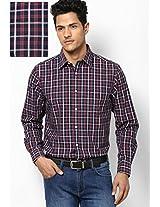 Blue Check Regular Fit Casual Shirt Allen Solly