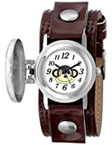 Frenzy Kids' FR286 Monkey Analog Brown Strap Watch