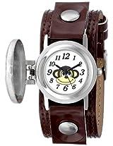 Frenzy Kids' FR286 Monkey Analog Brown Strap Watch