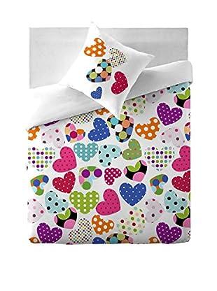 COSTURA Bettdecke und Kissenbezug Pop Heart