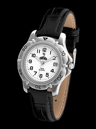 Dogma G1019 - Reloj de Caballero movimiento de quarzo con correa de piel negro