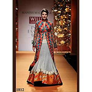 Jacqueline Fernandes in Jacket Style Anarkali Suit