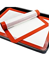 """SENHAI Premium Silicone Baking Mat for Healthy Cooking from The PhatMat,Parchment Paper Replacement for Cookies,Oven Reusable Liners sheet,Size 16.5"""" x 11 5/8""""- 2 Pack"""