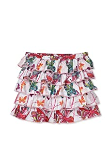 Beetlejuice London Girl's Butterfly Kisses Novelty Multi Layer Butterfly Print Skirt (Print)