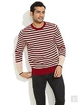 Levis Winter Fav Striped Sweater -White-L