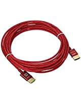 Monoprice 15ft 18Gbps Ultra Slim Series High Performance HDMI® Cable w/ RedMere® Technology - Red